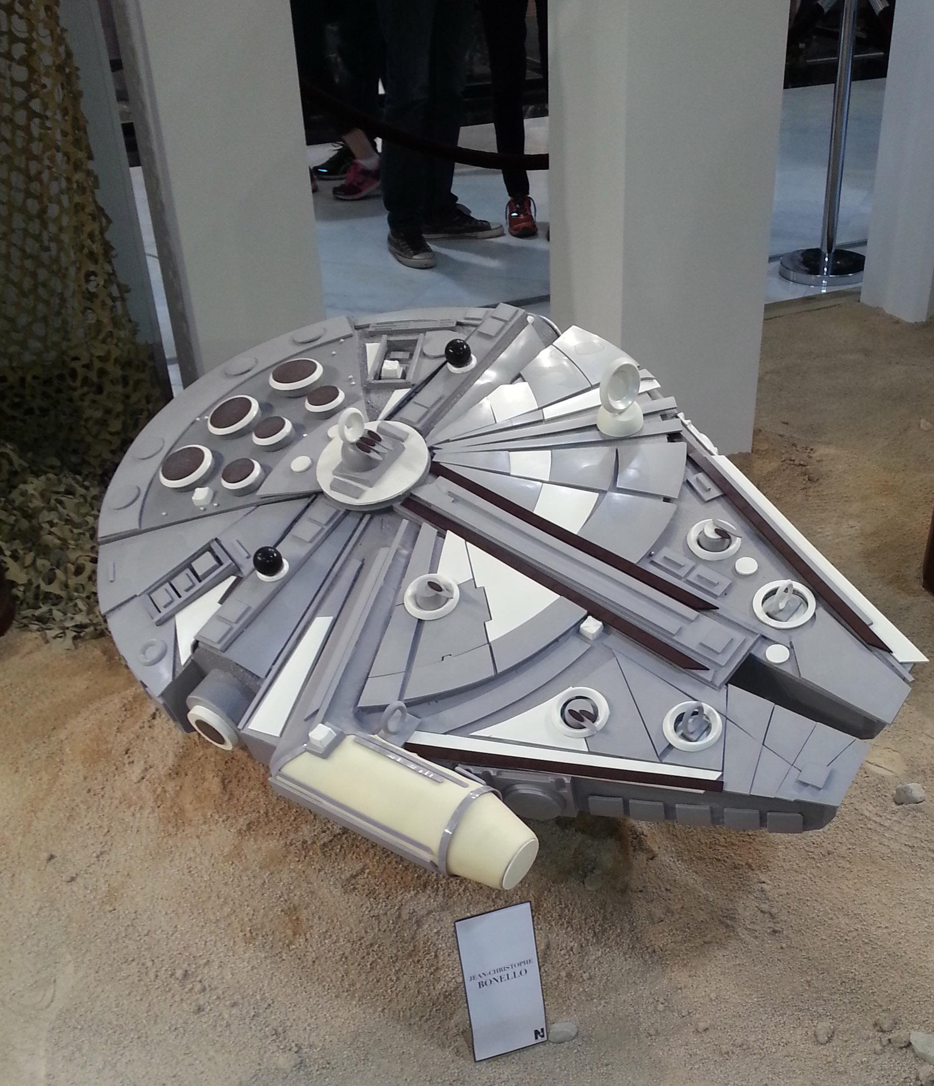 Le Faucon Millenium, vaisseau spatial de Han Solo.